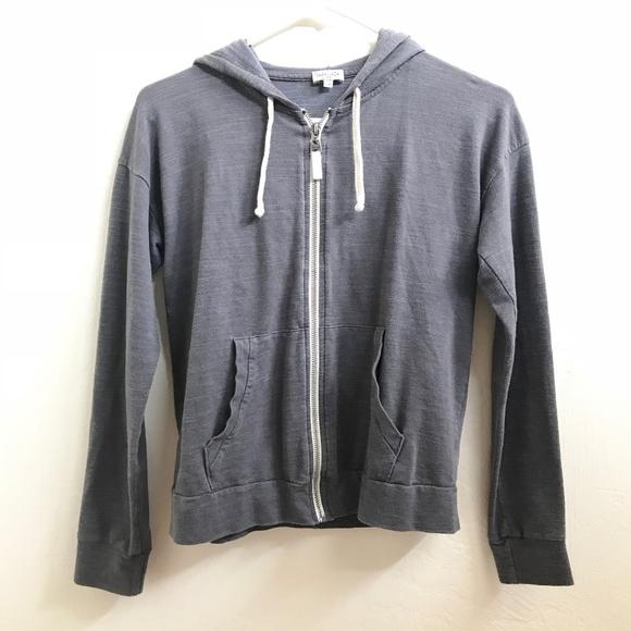 Soft gris Hoodie Cotton Splendid Zip Front Xs 51g71xawq